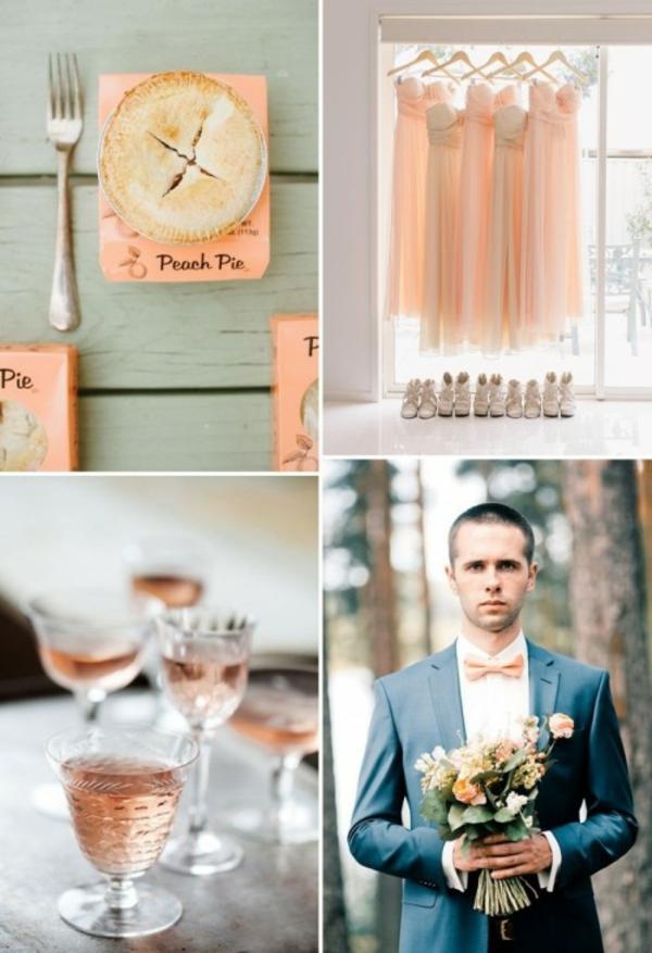 Hochzeitsdeko vintage schönheit Cremig und Pfirsichfarben nett