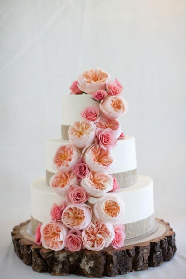 Meine Hochzeitsdeko Cremig und Pfirsichfarben
