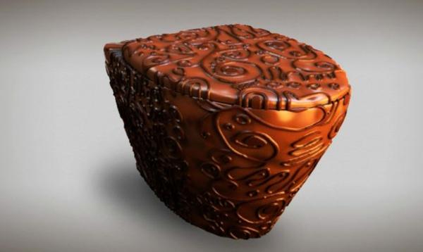 Moderne Badezimmereinrichtung bidet schokolade