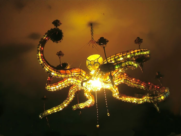 Oktopus Möbel dekoartikel art modern dunkeln leuchten