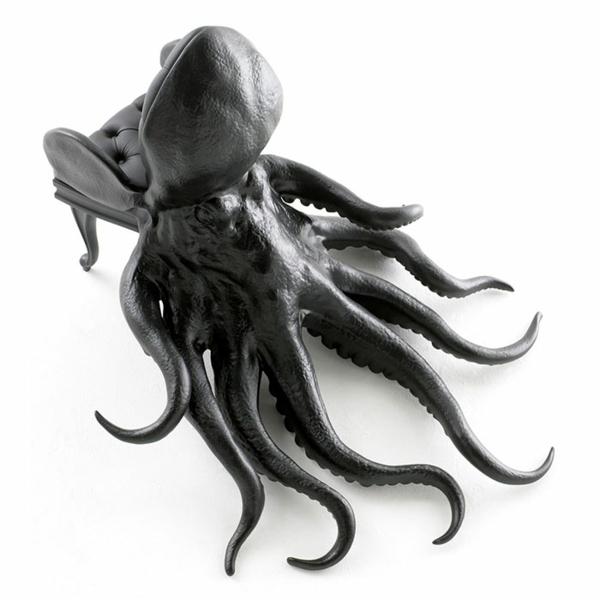Oktopus Möbel dekoartikel art modern leder sessel