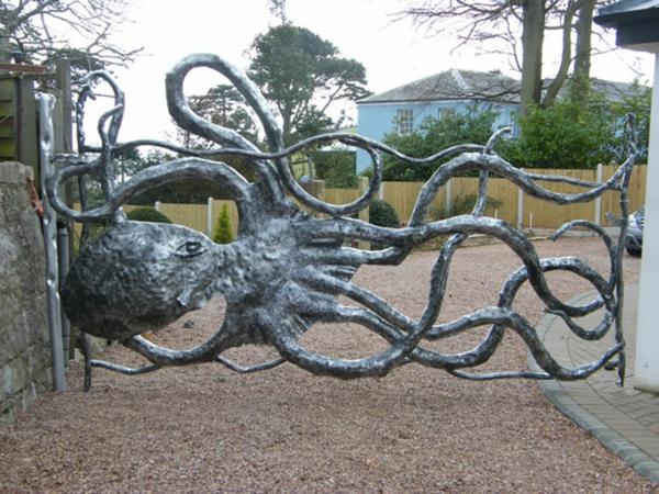 Oktopus gartenzaun Möbel dekoartikel art modern schön