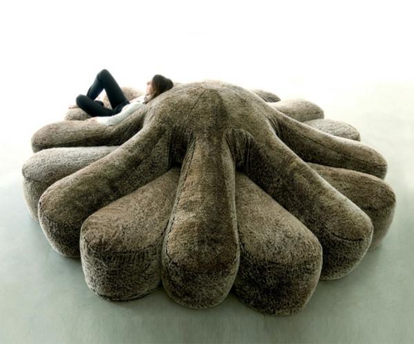 Oktopus weich polsterung Möbel dekoartikel art modern sofa