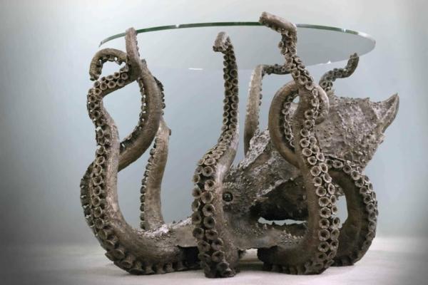 Oktopus unterseite Möbel dekoartikel art modern tisch