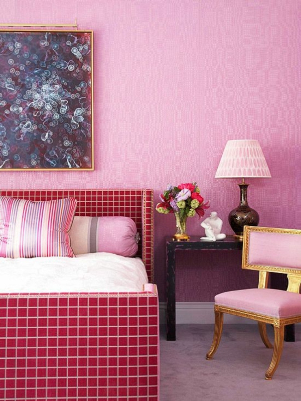 magenta farbe raumgestaltung ideen. Black Bedroom Furniture Sets. Home Design Ideas