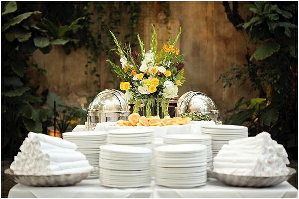 Hochzeitsfeier französisch Stil teller