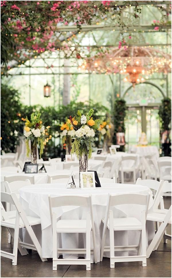 Romantische Hochzeitsfeier französisch Stil weiß deko