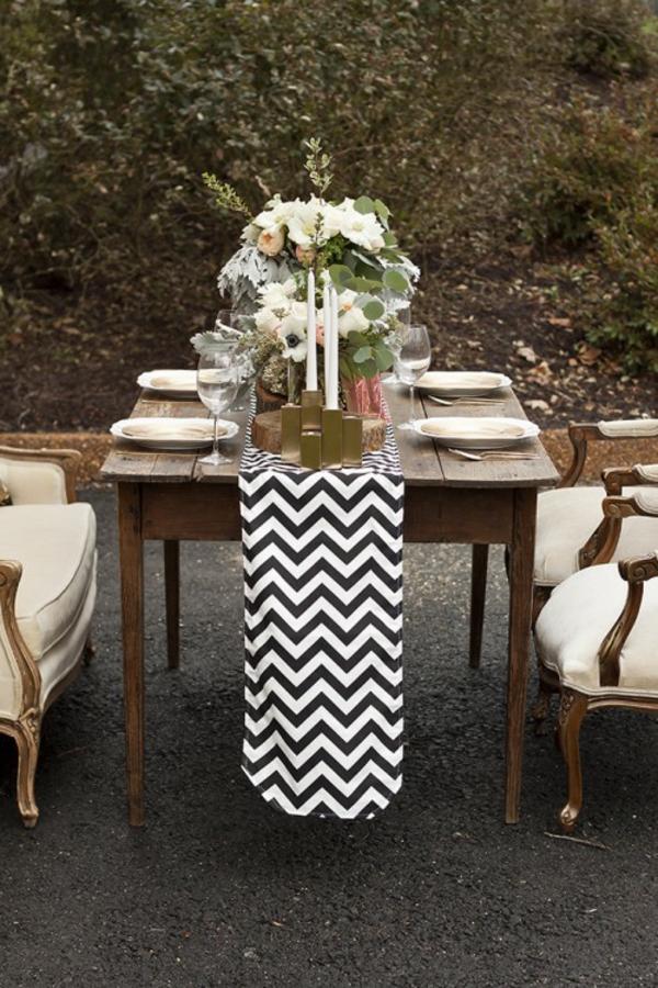 Rustikale Hochzeitsdeko machen warme Erdfarben chevron