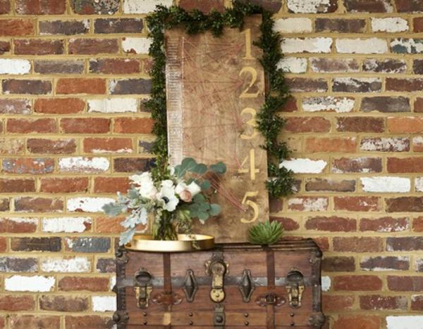 Hochzeitsdeko selber machen Rustikal warme Erdfarben retro