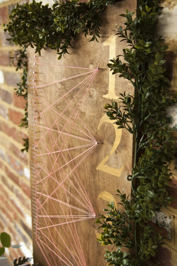 Rustikale selber machen warme Erdfarben Hochzeitsdeko