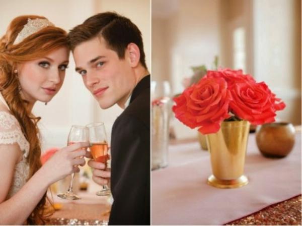 Scheinende  hochzeit blumen Hochzeitsdeko Ideen dekoideen