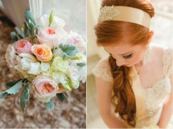 Scheinende Hochzeit deko Ideen dekoideen hochzeit brautfrisur
