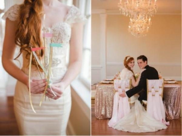 Hochzeitsdekoration Ideen dekoideen hochzeit brautkleid