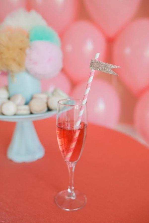 Scheinende Hochzeitsdeko liebevoll rosa Ideen dekoideen hochzeit glanz