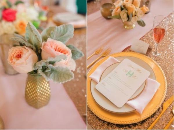 Hochzeit deko rosen vase Ideen dekoideen hochzeit teller