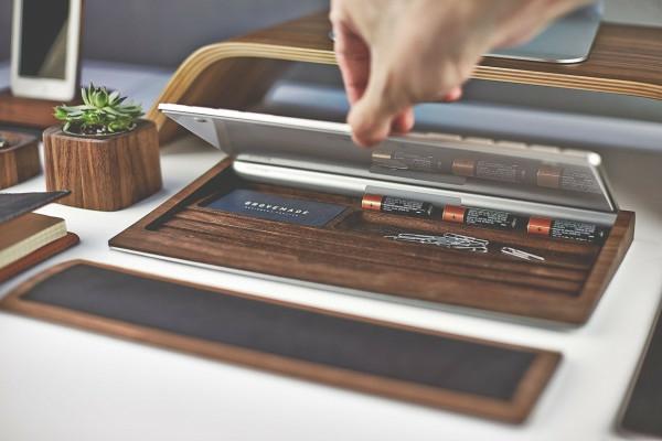 Schreibtisch design apple  Cooles Schreibtisch Zubehör von Grovemade Desk
