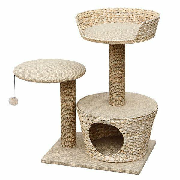 Tierfreundliche Katzenmöbel und Kratzbäume rattan