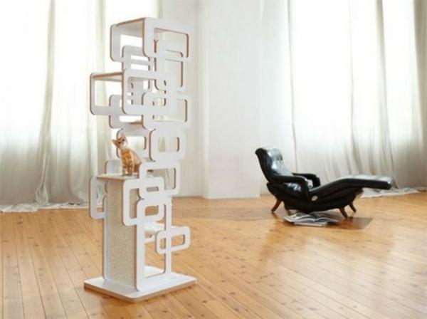 Tierfreundliche Katzenmöbel Kratzbäume weiß modular