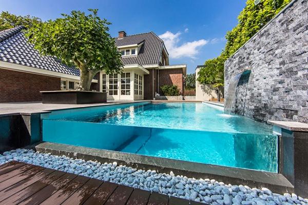 Wellness Einrichtung Schwimmbad Im Garten Glas