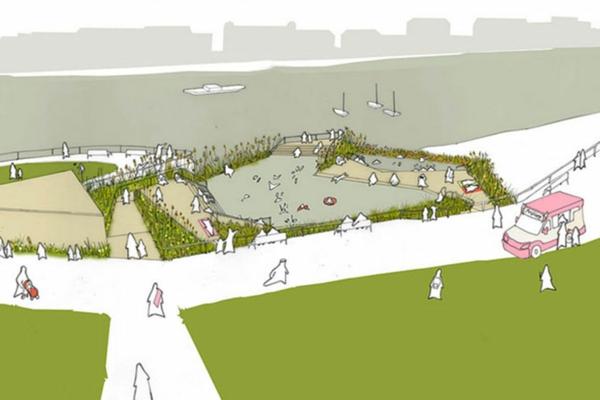 architektur der zukunft schwimmbadplanung projekt naturbad thames pool