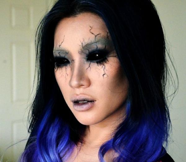 halloween schminken ideen dämon