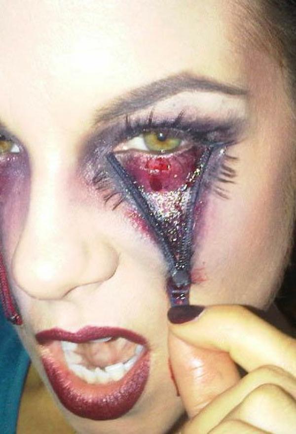 halloween schminken augenschmuck cool