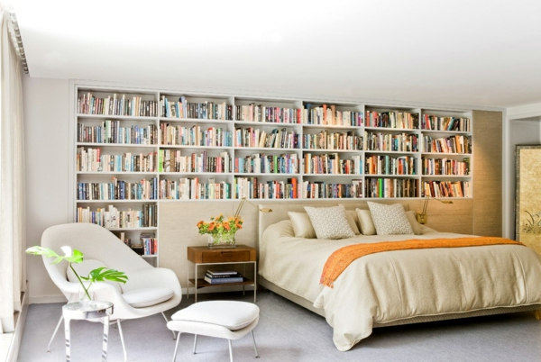 Ideen für Haus Bibliothek wendel treppe leder sessel
