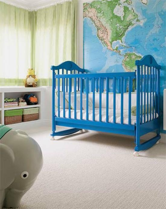 Wandtapeten F?r Babyzimmer : babyzimmer wandgestaltung coole innendesign ideen weltkarte wandtapete