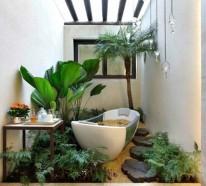 Wohnideen – grüne Zimmerpflanzen im Badezimmer