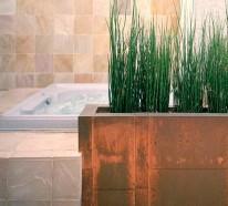 Wohnideen gr ne zimmerpflanzen im badezimmer - Grune bodenfliesen ...