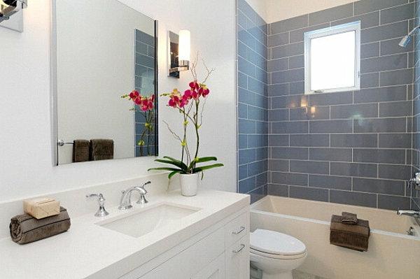 badezimmer einrichten zimmerpflanzen orchideen
