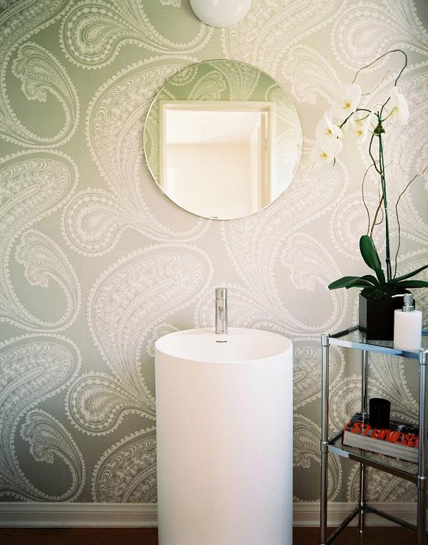 badezimmer einrichten zimmerpflanzen orchideen wandgestaltung