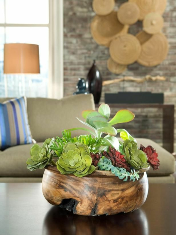 beliebtesten zimmerpflanzen grünpflanzen sukkulenten holz blumentopf