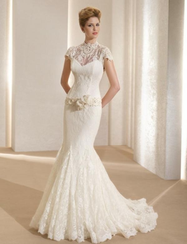 brautkleid blumen deko Hochzeitskleider mit Spitze ohne ärmel