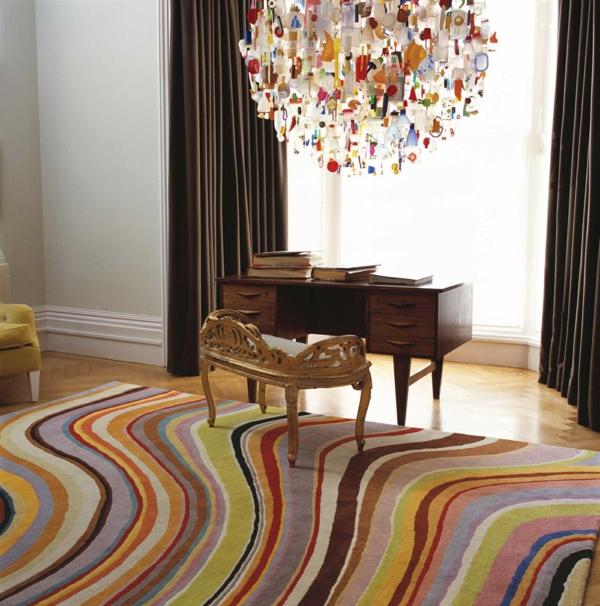 bunte teppiche marmor muster