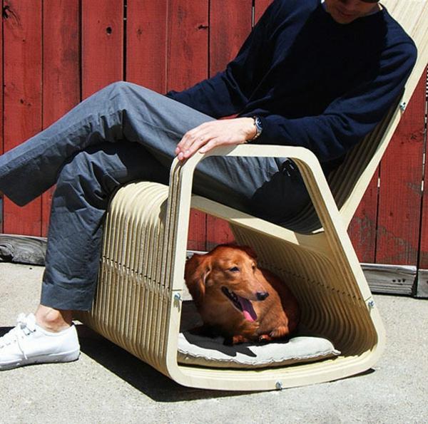 coole Geschenkideen für Hunde sessel holz