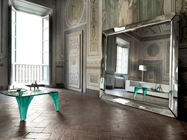 coole einrichtungsideen dekorative wandgestaltung spiegel