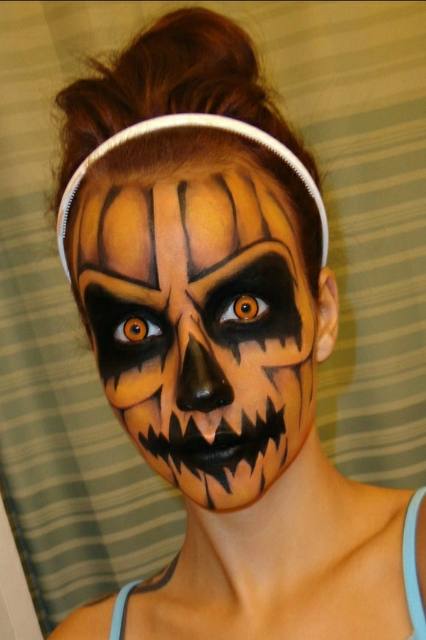 halloween schminken party make up skelett