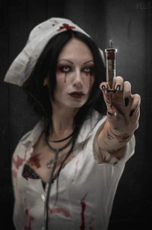 horror halloween kostüme schrecklich krankenschwester