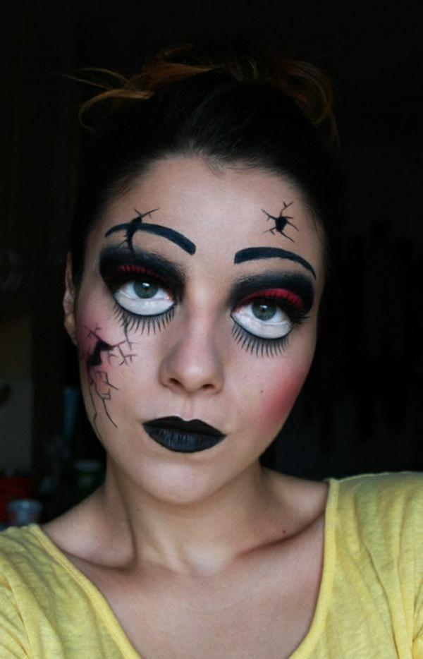 ideen halloween schminken damen attraktiv