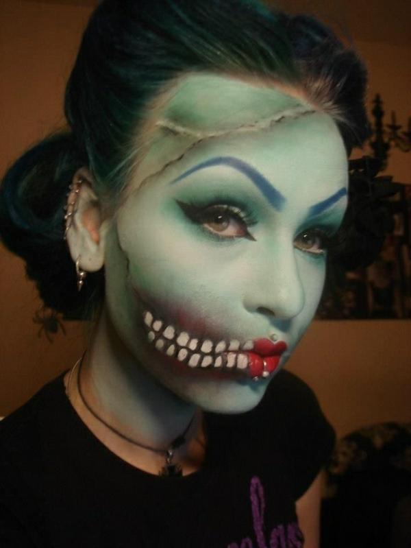 ideen halloween schminken damen