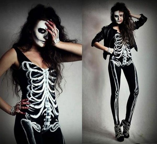 karnevalskostüme halloween verkleidung skelett