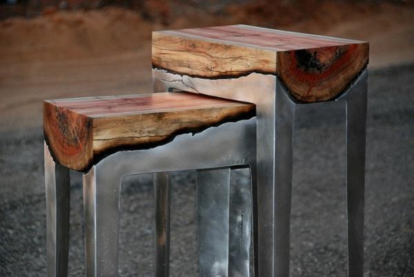 BUcherregal Metall Und Holz ~ Coole Möbel aus Holz und Metall von Hilla Shamia