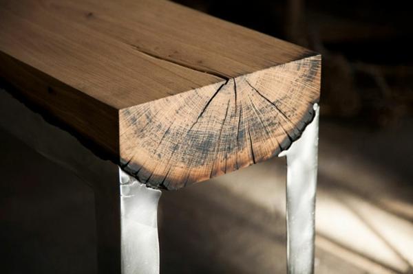 Moderne metallmöbel  Coole Möbel aus Holz und Metall von Hilla Shamia