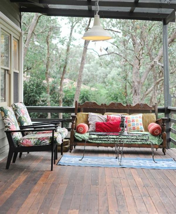 coole terrassengestaltung möbel pendelleuchte