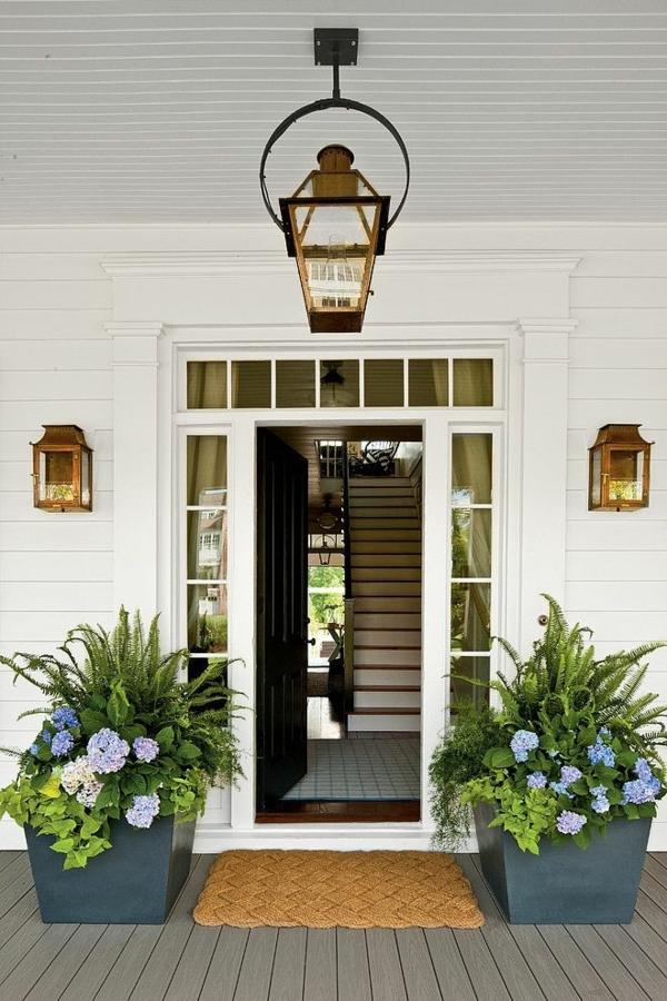 coole terrassengestaltung outdoor pflanzen beleuchtung