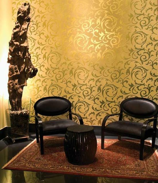 Wohnideen Orientalischer Stil coole wohnideen welche die neugestaltung mit wandtapeten einschließen