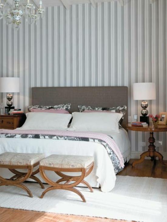 Wandtapeten Schlafzimmer : Wohnideen, welche die Neugestaltung mit Wandtapeten einschlie?en