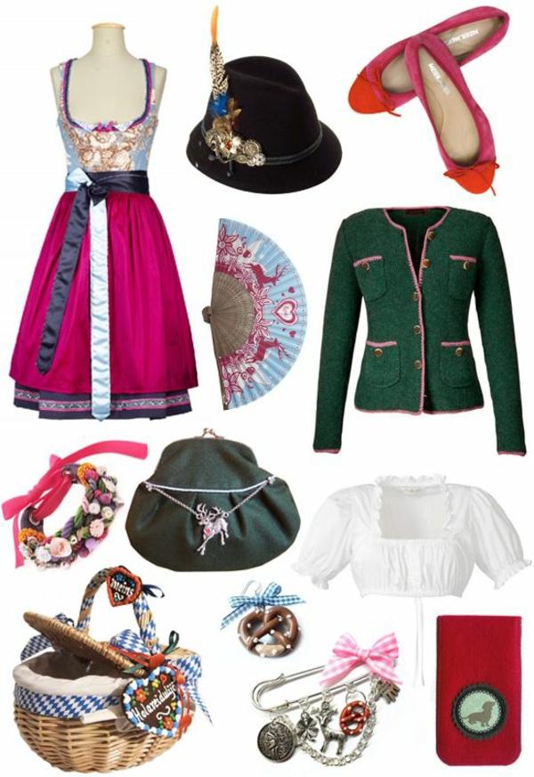 damen trachtenmode drindl kleider accessoires oktoberfest 2014