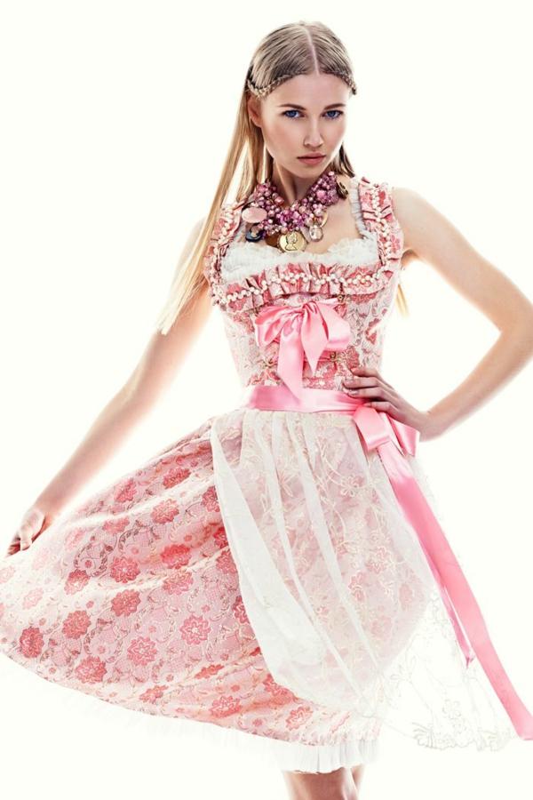 damen trachtenmode drindl kleider pastellfarben rosa oktoberfest münchen 2014